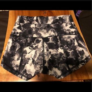 Lululemon Floral in movement shorts